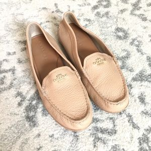 Coach genuine leather Mary Lock Up slip on loafers